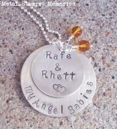 metal+necklaces | Baby Memorial Necklaces, Miscarriage Jewelry, Loss of Child | Metal ...