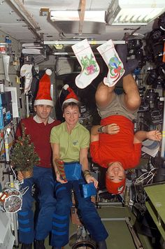 Christmas on the International Space Station in 2007.