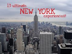 13 ultimate New York experiences you must try!