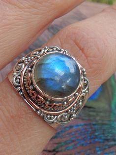 """""""Labradorite Ocean Breeze Ring in Sterling Silver (SIZE 9.5)"""""""