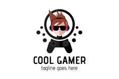 Cool Gamer Logo by tkent on @creativemarket