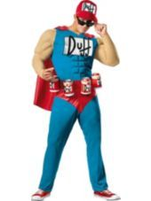 Adult Duffman Costume Plus Size - The Simpsons - Party City