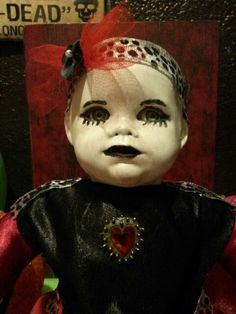 Dead doll up close