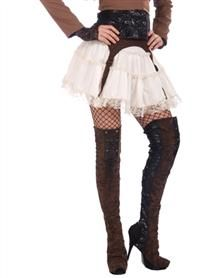 Steampunk Clothing, Costumes, and Fashion - Steampunk Thigh High Womens Boot Top $19.99  #Steampunk #Halloween #costume