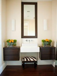 Zebra print bathroom on pinterest zebra bathroom - Discount bathroom vanities near me ...