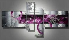 Tableau Design Fuschia gris tendance