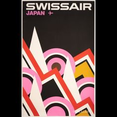 Swiss Air, Swiss Travel, Graphic Art, Graphic Design, Vintage Airline, Exhibition Poster, Sign Printing, Holiday Destinations, Bold Colors