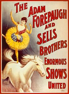 Vintage Adam Forepaugh and Sells Bros Circus Poster