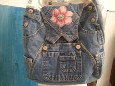 Recycled Denim Bag Purse-all by SassyFrasCollection on Etsy