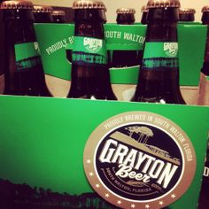 South Walton, Florida Grayton Beer. I will be consuming large quantities of this. ;)