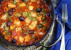 Skreigryte med tomat, oliven og chorizo - Elin Larsen