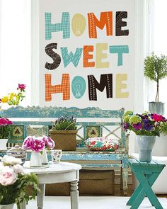 home sweet home Sweet Home, Home Quotes And Sayings, Vintage Decor, Wall Decals, Home Improvement, Gallery Wall, New Homes, Living Room, House Styles