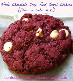 Red Velvet Cookies from a Cake Mix
