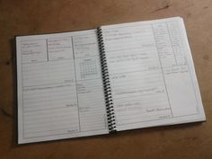 printed planner - includes 'rocks, pebbles, sand' sections to help prioritise tasks & remind what is important.