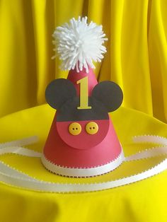 Hey, I found this really awesome Etsy listing at https://www.etsy.com/listing/163505693/mickey-mouse-1st-birthday-hat