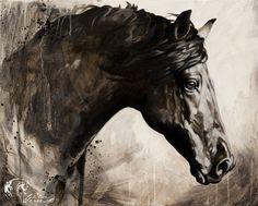 Toiles passées - past paintings — Elise Genest Painted Horses, Horse Drawings, Art Drawings, Horse Illustration, Horse Artwork, Wood Painting Art, Fashion Wall Art, Horse Print, Modern Artwork
