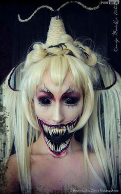Devil Girl Eye Candy | Isso que é uma maquiagem de bruxa assustadora