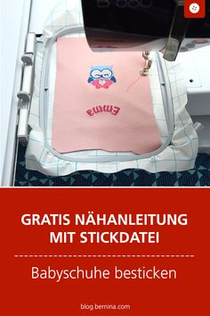 Kostenlose Nähanleitung für Babyschuhe mit Stickdatei & Free sewing instructions for baby shoes with embroidery file The post Free sewing instructions for baby shoes with embroidery file & appeared first on Embroidery and Stitching. Embroidery Files, Embroidery Stitches, Embroidery Patterns, Knitting Patterns, Hand Embroidery, Sewing Hacks, Sewing Projects, Leather Slippers, Janome