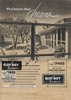 The House That Dreams Built: Mock Up For Cliff May Homes Brochure (circa