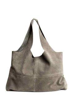 Duża torba shopper z zamszu