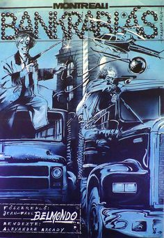 Montreali bankrablás (1985) Hold-Up Hungarian vintage movie poster Artist by: Khell Csörsz