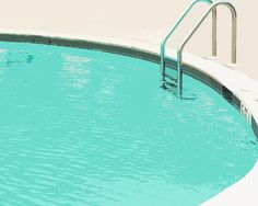 Swimming Pool Summer Water Blue  Ladder - 5 x 7 art print by Dawn Smith via Etsy