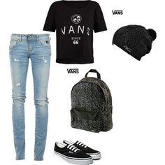 Vans Girls Shoes Black