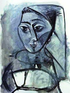 """Pablo Picasso - Cubism - """"Jacqueline Rocque"""""""
