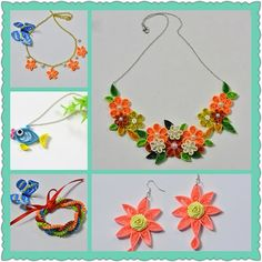 Quilling paper jewelry, wanna make them? Then LC.Pandahall.com can teach you how to make them. Quilling Jewelry, Quilling Paper Craft, Paper Jewelry, Paper Crafts, Some Pictures, Jewelry Ideas, Crochet Necklace, Tissue Paper Crafts, Paper Craft Work