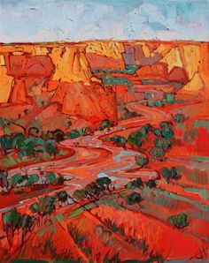 Canyon de Chelly oil painting by open-impressionist artist Erin Hanson