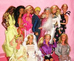 vintage Barbies 80's collection