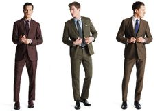 Green, Brown, and Burgundy Men's Summer Suits - Details Magazine