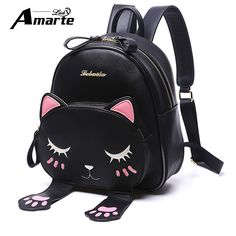 Cheap mochila gato, Buy Quality leather backpack mini directly from China women leather backpack Suppliers: Amarte Women Cute Cartoon Cat Backpacks New Women Leather Backpacks Mini Girls Small Fashion Casual Women Back Pack Mochila Gato Backpacks, backpacks for teens, backpacks for women, backpacks for college, backpacks travel, backpacks & duffles, backpacks and bags #backpacking #backpacks #backpack #womenbackpack