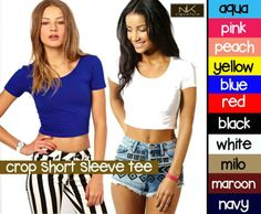 M-CROP SHORT SLEEVE TEE