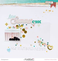 Love Summer [Crate Paper Layout] with Confetti Shaker Pocket.