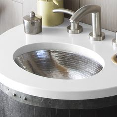 "Undermount Bathroom Sink Oval rolled baby classic 15 1/2"" drop-in oval brushed nickel bathroom"