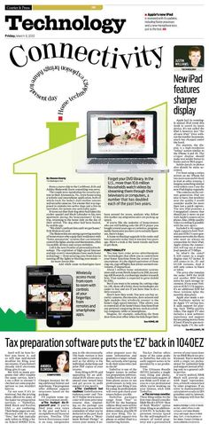 March 9, 2012 Technology section of the Evansville Courier & Press