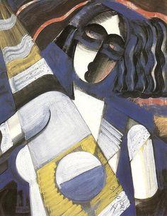 hugo scheiber art | Scheiber, Hugo (1873-1950) - 1926 Portrait of a Woman (Private ...