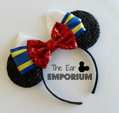 Donald Duck Inspired Minnie/Mickey Mouse Ears by theearemporium