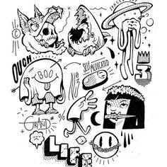 #tonyriff #artwork #sketchbook #flash #cartoon #design #illustration #draw #art #lowbrow #unipinfineline