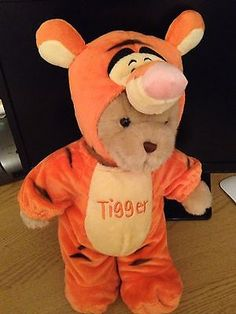 Practical Teddy has  created a teddy bear that is dressed in a tigger outfit so it is actually two bears in one .