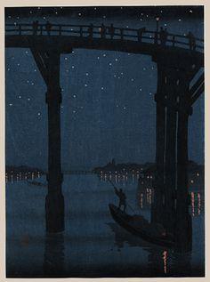 """Ohashi Bridge at Night"" by Eijiro"
