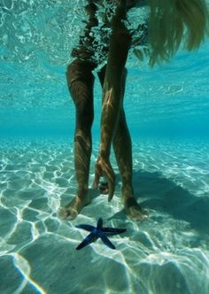 Looking for starfish, one of the best things.