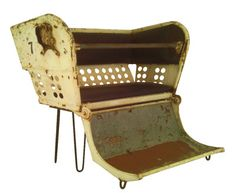 Got this antique ferris wheel seat on ebay! So old the seat is stuffed with horse hair. LOVE.