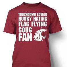 Reppin the The Washington State University Cougars Area Code Tee is a great way to show your Palouse pride! It features the 509 area code for Eastern Washington with a WSU logo below the numbers. It is cotton and the graphics are printed Wsu Football, Football Season, Football Stuff, Fight Song, Fight Fight, Washington State University, Fan Shirts, Smart Women, Spirit Wear