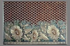 Sample, Date: early 19th century Culture: French Medium: Metal thread and chenille on silk