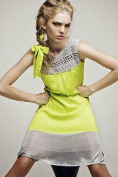 Ekaterina Kukhareva: Spring Summer Crochet and Fabric… Moda Crochet, Crochet Yoke, Crochet Shorts, Crochet Fabric, Crochet Clothes, Crochet Woman, Knit Fashion, Diy Clothing, Refashion