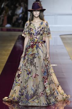 Beautifully Multi- Colored Beading Designed Gown by Zuhair Murad, Look #19