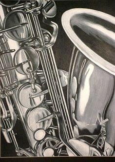 Saxophone drawing - Jessie Miller's Art