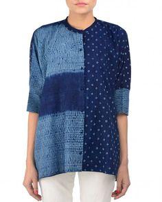 Shibori and bandhani share this shirt